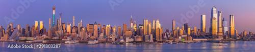 Fototapeta New York City Manhattan midtown buildings skyline obraz