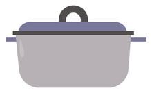Crock Pot, Illustration, Vector On White Background.