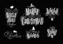 Christmas Letterings Chalk