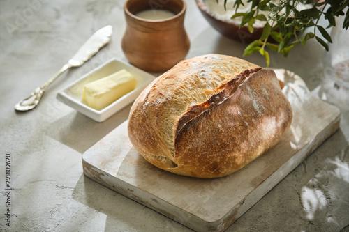 Fototapeta Freshly baked traditional bread obraz