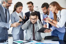 Businessman Stress Overwhelmed Work Problem