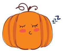Sleeping Pumpkin, Illustration...
