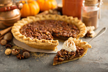 Pecan Pie Topped With Whipped ...