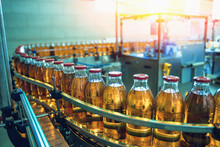 Conveyor Belt, Juice In Bottle...