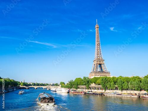 Foto op Plexiglas Parijs 世界遺産 パリのセーヌ河岸 エッフェル塔