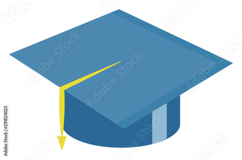 Photo Graduation hat, illustration, vector on white background.