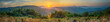 canvas print picture - Panorama view beautiful of morning sunrise over at mountain