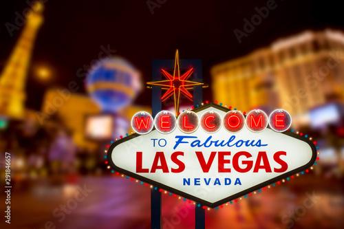 Fotografie, Obraz  LAS VEGAS - SEP 18 : Welcome to fabulous Las Vegas neon sign with Las Vegas stri