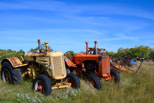 Two Tractors In A Row