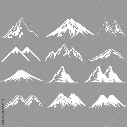 mountain icon vector design symbol