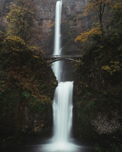 Large Waterfall In The Woods F...