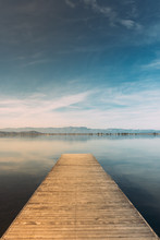 Landscape Of Pier With A Blue ...
