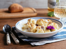 Roasted Cauliflower On Pasta