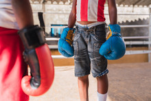 Teenagers In Boxing Gloves On ...