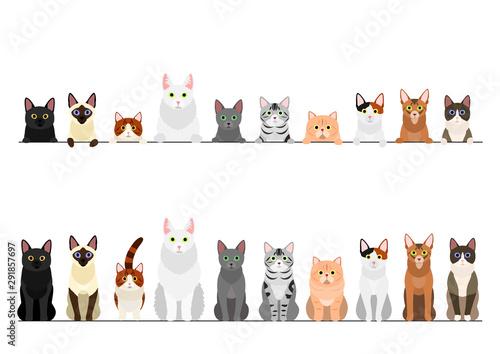 Leinwand Poster border set of various cats