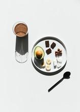 Avocado Chocolate Hazelnut Smoothie With Fresh Ingredients