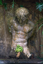 Ancient Male Sculptures In The...