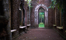 Old Abandoned Building In The Rain Forest In Sri Lanka