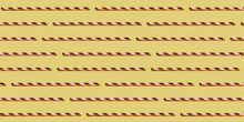 Golden Drinking Straw Pattern On Pastel Yellow