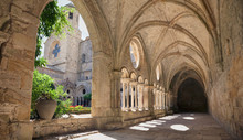 Cloister Of An Abbey In France