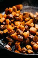 Sauteed Sweet Potato Cubes