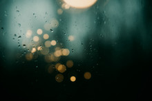 Rain On Window With Bokeh