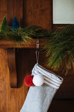 Christmas Stockings On Firepla...