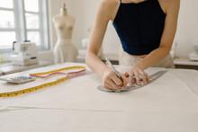 Clothing Designer At Work