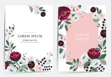 Vector Illustration Of A Beatiful Floral Frame Set In Summer For Wedding, Anniversary, Birthday And Party. Design For Banner, Poster, Card, Invitation And Scrapbook