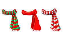 Vector Winter Red Scarf Collec...