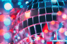 Shiny Disco Party Background With Mirror Balls Reflecting Light