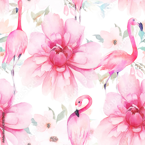 Photo Watercolor seamless pattern