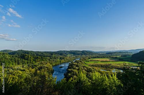 Fototapety, obrazy: San panorama z góry Sobień