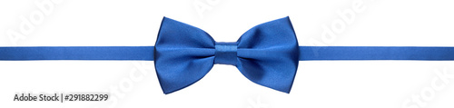 Fototapeta Blue bow tie isolated on white background obraz