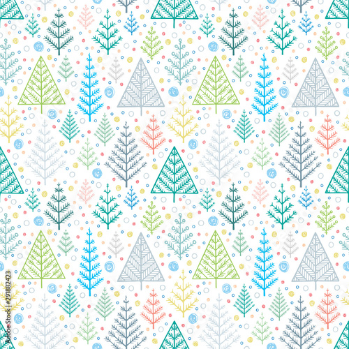 Fotomural Spruce hand drawn endless background