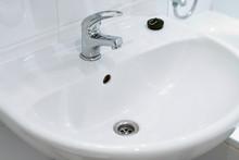 Clean White Sink
