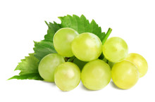 Fresh Ripe Juicy Grapes Isolat...