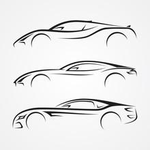 Elegance Car Sport Element Sil...