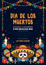 Dia De Los Muertos Festive Inv...
