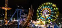 Great Amusement Park At Night