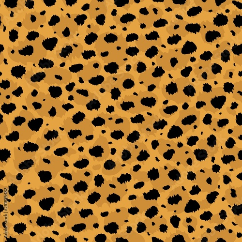 Vector abstract seamless pattern of cheetah predatory print Wallpaper Mural