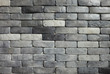 random gray brick wall background texture, painted block set pattern.