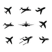 Airplane Icon Set,symbol Vecto...