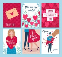 Valentines Day Cards, Woman An...