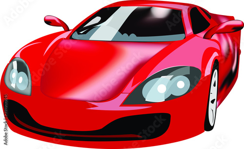 Sports Car Vector Wallpaper Mural