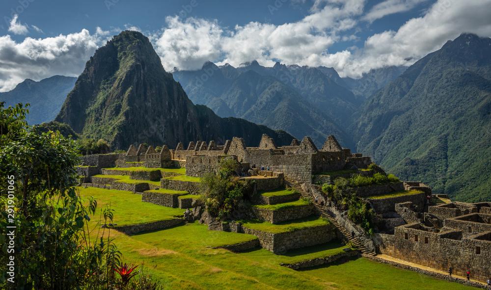 Fototapeta Machu Picchu, ancient Andean Inca town