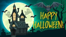 Halloween Ghosts, Bats, Haunte...