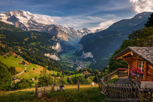 Lauterbrunnen Valley In The Sw...