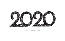Happy New Year 2020 Golden Tex...