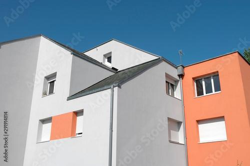 Canvas-taulu immeuble bicolore